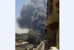 عاجل : حريق هائل بشارع الجلاء في الإسكندرية