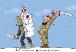 كاريكاتير:  من يذبح الفلوجة؟