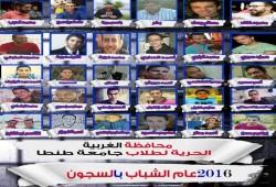 حصاد انتهاكات الانقلاب بحق طلاب جامعة طنطا حتى بداية 2017