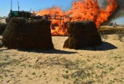 الانقلاب ينتقم من أهالي سيناء بحرق عشش المهجرين