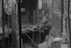 انهيار عقار من 3 طوابق بحي العرب في بورسعيد