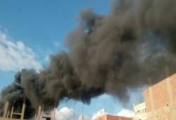 حريق بشركة لتشكيل المعادن وصناعة البلاستيك في المنوفية