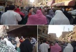 مسيرة حاشدة لثوار حدائق حلوان ضد الانقلاب