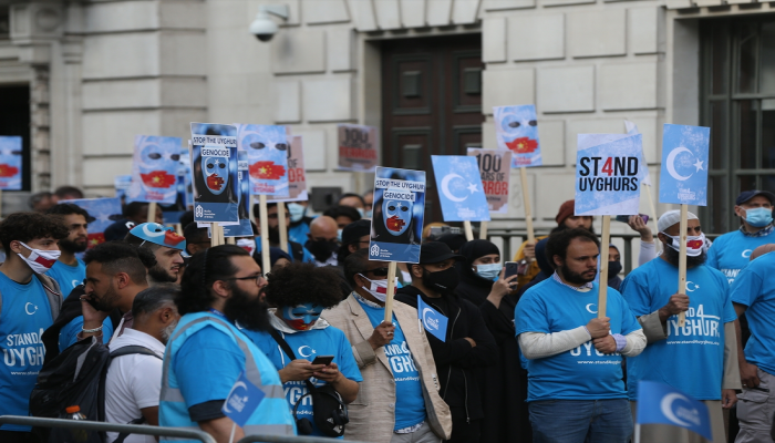 مظاهرة بلندن للتنديد بالانتهاكات الصينية ضد الإيغور المسلمين
