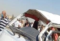 إصابة 36 شخصا فى حادث تصادم أتوبيسين غرب الإسكندرية