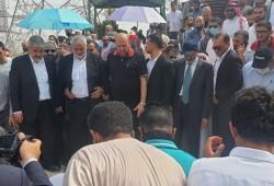 هنية خلال تشييع غوشة: نودع رجلا صادقا حمل راية فلسطين ولواء المقاومة