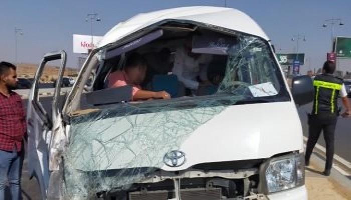 مصرع 9 أشخاص فى حادث تصادم على الطريق الصحراوى بمركز سمالوط المنيا