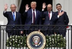 دول العار تحتفل مع الكيان الصهيوني بـمرور عام على التطبيع