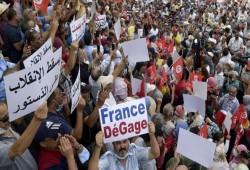 مظاهرات حاشدة في تونس ضد انقلاب قيس سعيد