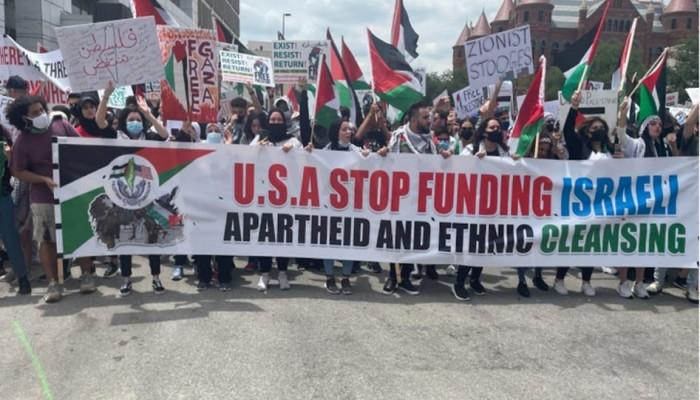 تظاهرتان في أمريكا دعمًا لفلسطين
