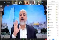 مشعل: 3 محاور للخروج من أزماتنا أبرزها تشكيل قيادة فلسطينية