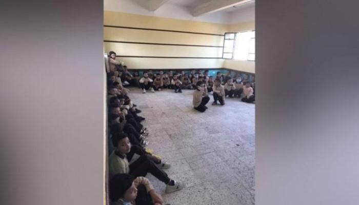 مهازل تعليم الإنقلاب..تلاميذ يفترشون الأرض وسرقة وتكدس بالفصول والبقية تأتى