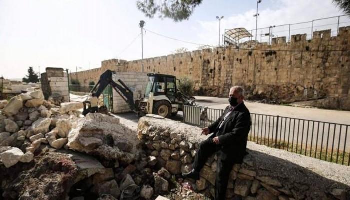"""""""أوروبيون لأجل القدس"""" تدين تجريف الاحتلال المقبرة اليوسفية"""