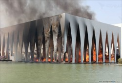 """حريق ضخم في مسرح """"بلازا"""" قبل يوم من افتتاح مهرجان الجونة"""